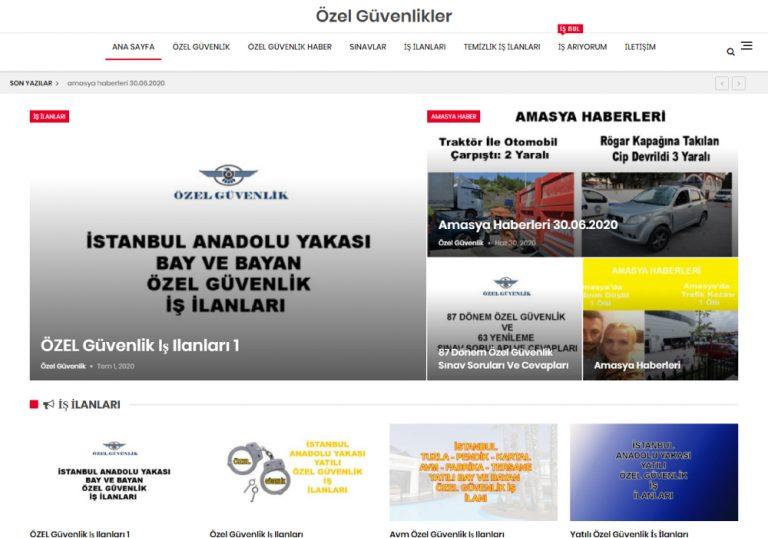 Özel Güvenlikler Web Sitesi
