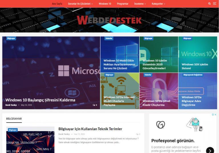 Webdedestek Platformu