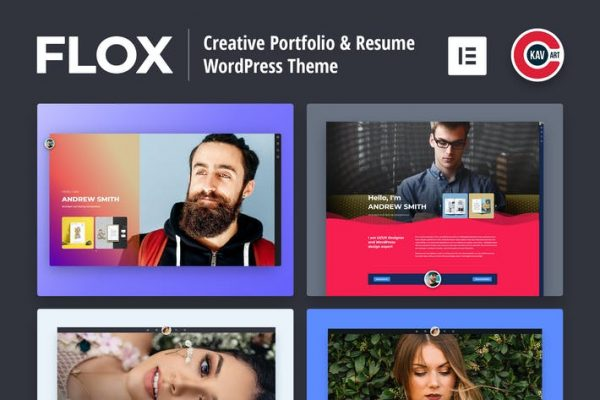 FLOX -  Kişisel Portföy ve Özgeçmiş WordPress Temasısı