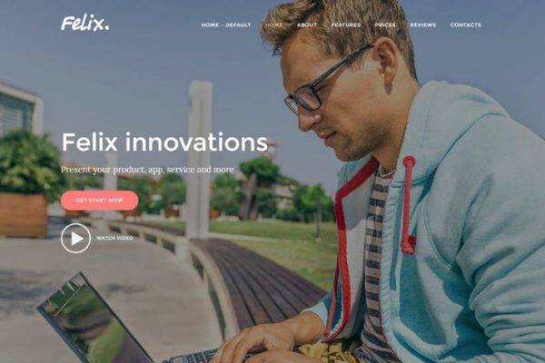 Felix. - Uygulama, WordPress Onepage Temasısı