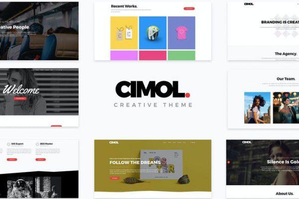 Cimol - Duyarlı Bir Sayfa ve Çok Sayfalı Portföy