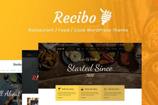 Recibo - Restoran / Yemek / Aşçı WordPress Temasısı