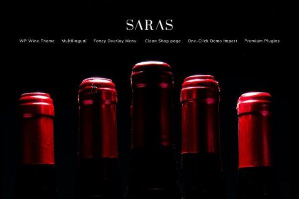 Saras -  Şarap WordPress Temasısı