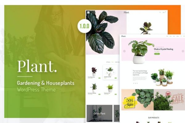 Plant -  Bahçe ve Ev Bitkileri WordPress Temasısı