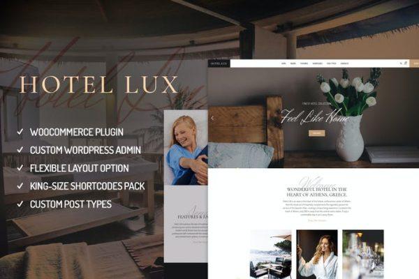 Hotel Lux - Resort & Hotel WordPress Temasısı
