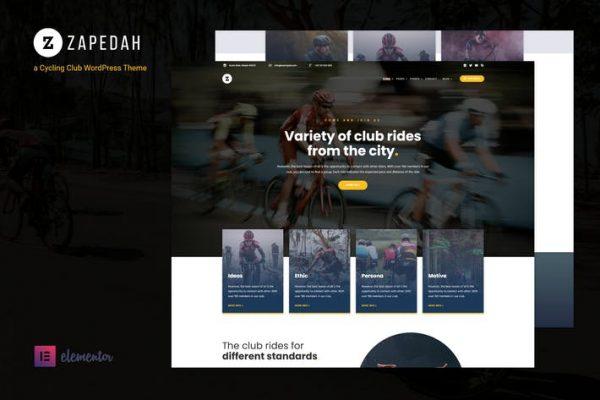 Zapedah - Bisiklet Kulübü WordPress Temasısı
