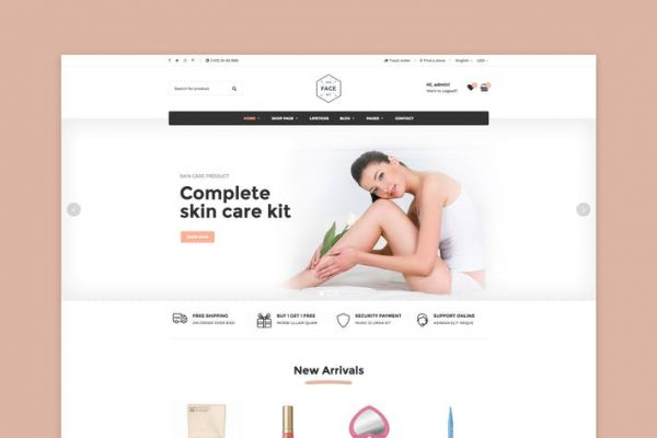 Vicky -  Kozmetik WooCommerce WordPress Temasısı