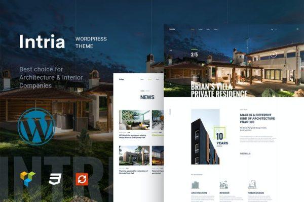 Intria - Mimari ve İç Mekan WordPress Temasısı