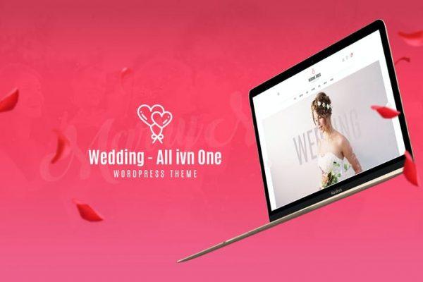 Wedding -  Hepsi Bir Arada WordPress Temasısı