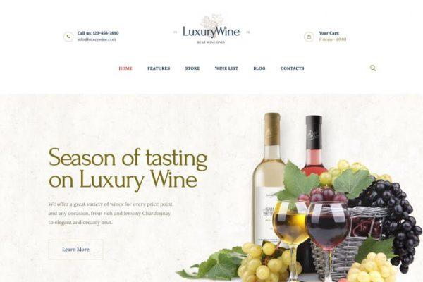 Luxury Wine -  Likör Mağazası ve Bağ WP Temasısı