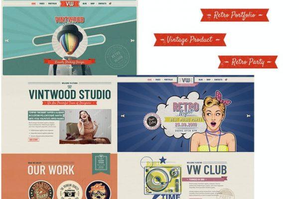 VintWood - Vintage, Retro WordPress Temasısı