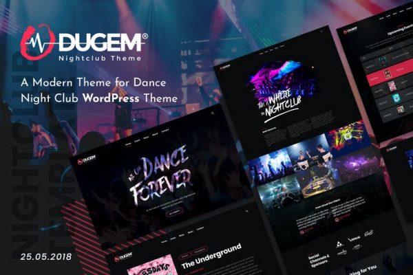 Dugem - Dance Night Club WordPress Temasısı