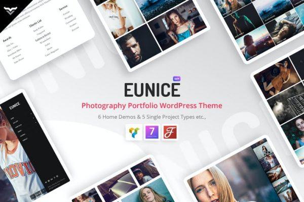 Eunice -  Fotoğrafçılık Portföyü WordPress Temasısı
