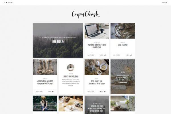 CorpusChristi -  Modern Blog WordPress Temasısı