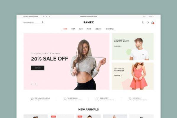 Samex - Temiz, Minimal Mağaza WooCommerce WordPress