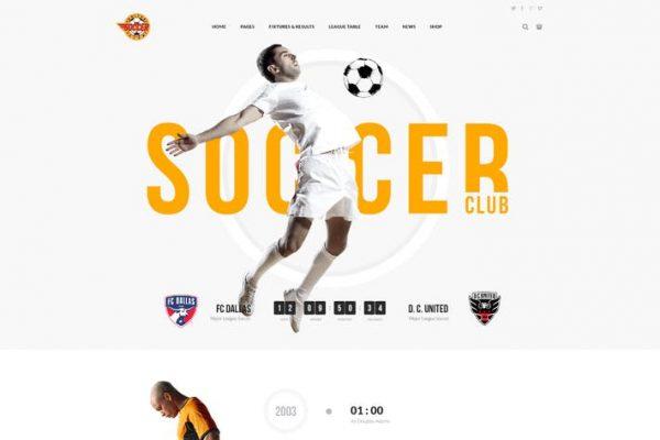 Soccer Club - Futbol Takımı WordPress Temasısı