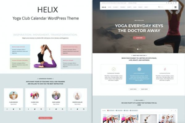 Helix - Yoga Kulübü Takvimi WordPress Temasısı