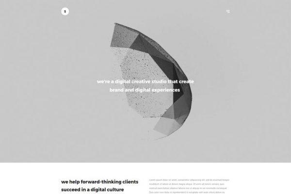 Sima - Minimal Portföy WordPress Temasısı