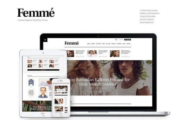 Femme - Online Dergi ve Moda Blog WP Temasısı