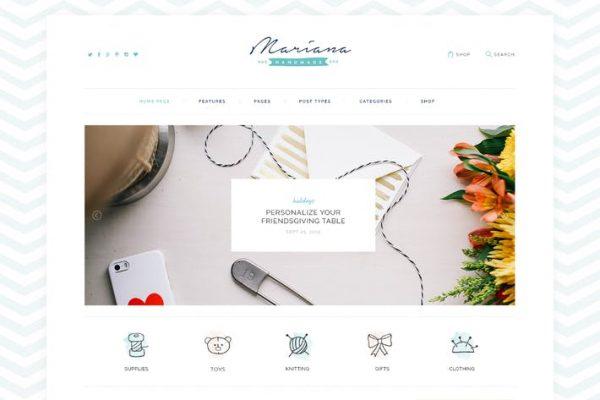 Melania - El Yapımı Blog ve Mağaza WordPress Temasısı