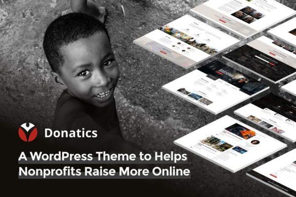 Donatics -  Yardım ve Bağış Toplama WordPress Temasısı