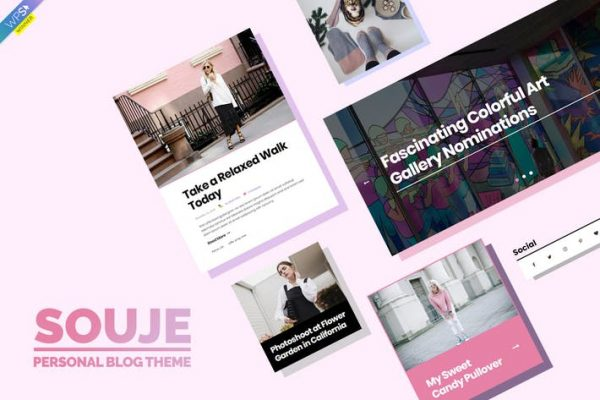 Souje -  Kişisel WordPress Blog Temasısı