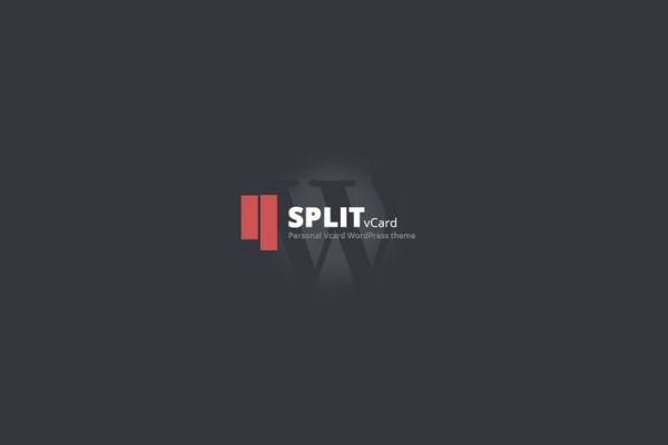 Split : WordPress CV/Vcard Template Teması