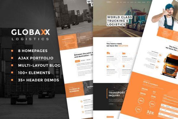 Globax -  Lojistik WordPress Temasısı + Woocommerce