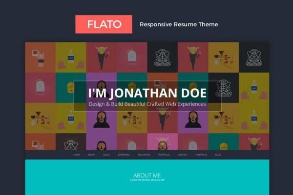 Flatoo -  vCard, Özgeçmiş, Kişisel WordPress Temasısı
