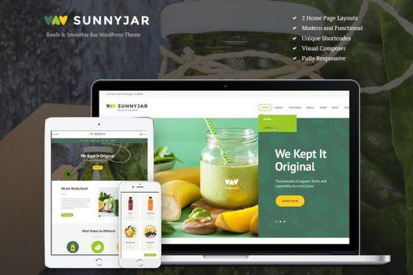 SunnyJar -  Smoothie Bar ve Sağlıklı İçecekler Dükkanı WP