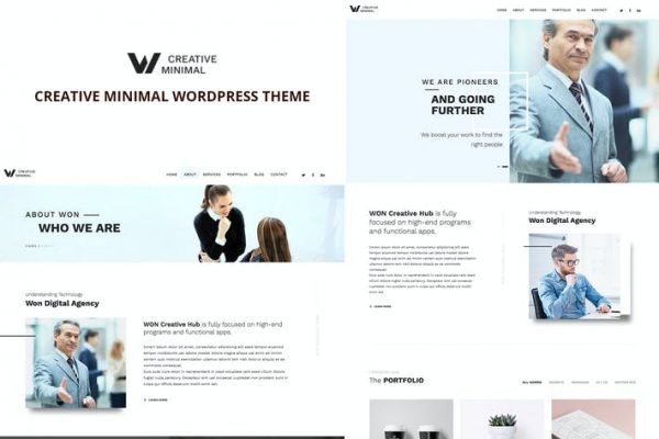 WON Creative Minimal WordPress Teması