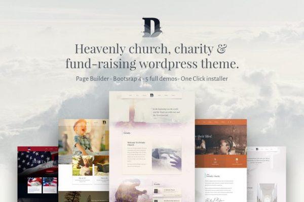 Divinity - Kilise ve kar amacı gütmeyen wordpress teması