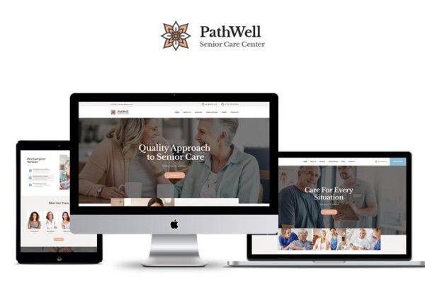 PathWell -  Bir Kıdemli Bakım Hastanesi WordPress Temasısı