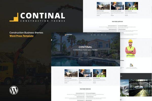 Continal -  İnşaat ve İş WordPress Temasısı