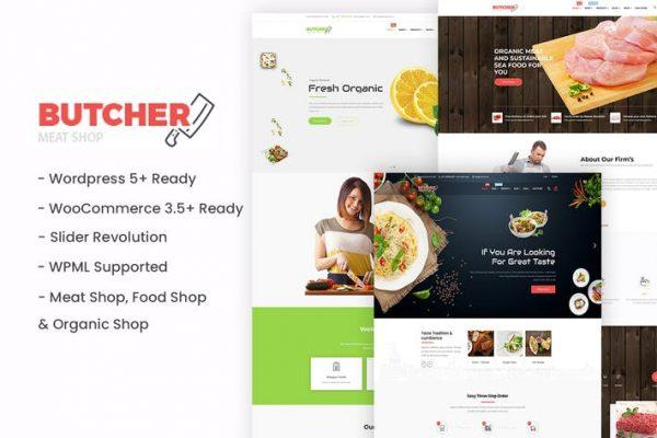 Butcher - Et, Organik, Fırın WordPress Teması