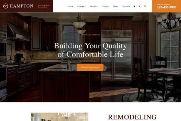 Hampton - Ev Tasarımı ve Ev Yenileme WP Teması