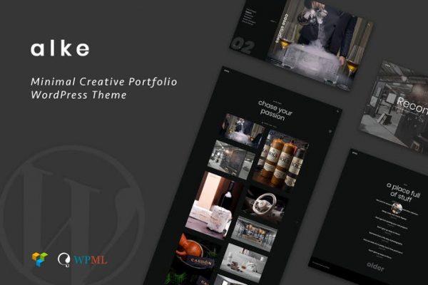Alke -  Minimal Yaratıcı Portföy WordPress Temasısı