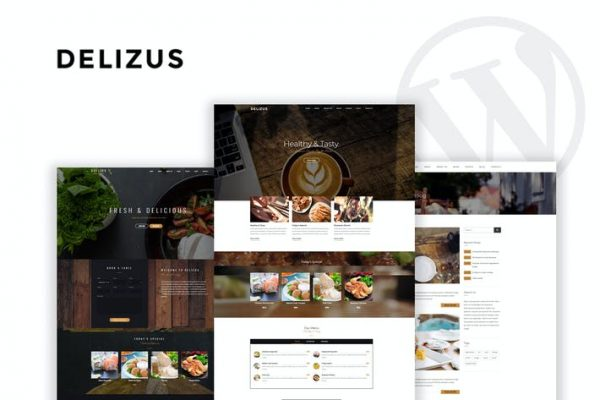 Delizus -  Restoran Cafe WordPress Temasısı