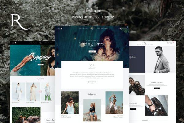 Rion -  WooCommerce için Moda WordPress Temasısı