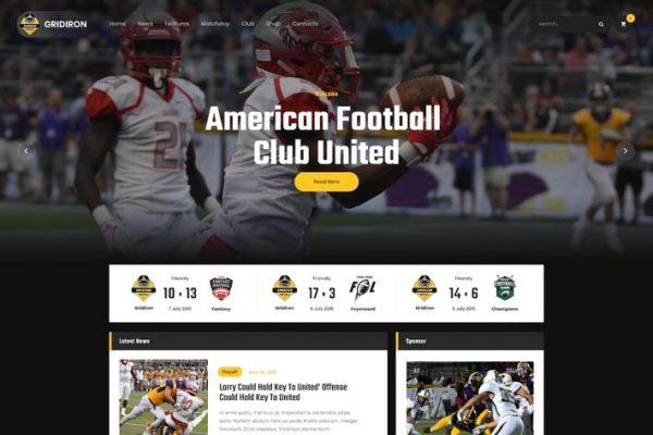Gridiron -  Amerikan Futbolu ve NFL Takımı WordPress
