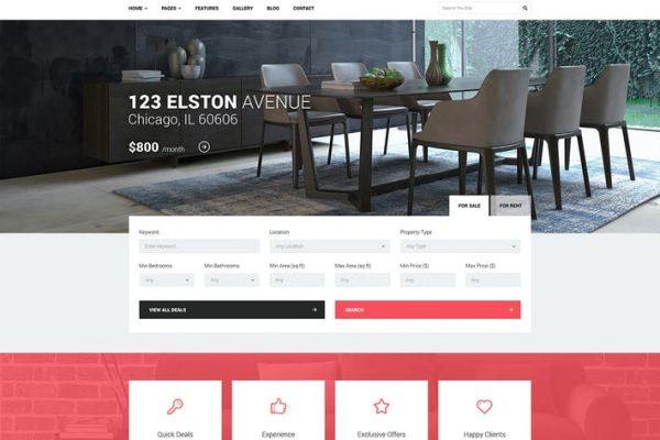 Good Homes -  Emlak WordPress Temasısı