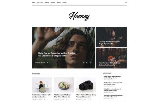 Heeney - Modern Blog WordPress Temasısı