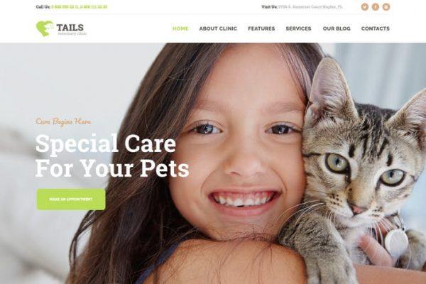 Tails -  Veteriner Kliniği, Evcil Hayvan Bakımı ve Hayvan WP