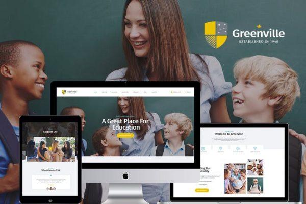 Greenville -  Özel Okul WordPress Temasısı