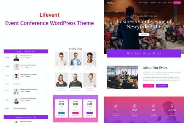 Lifevent - Konferans Etkinliği WordPress Temasısı