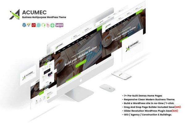Acumec -  İş Amaçlı WordPress Temasısı
