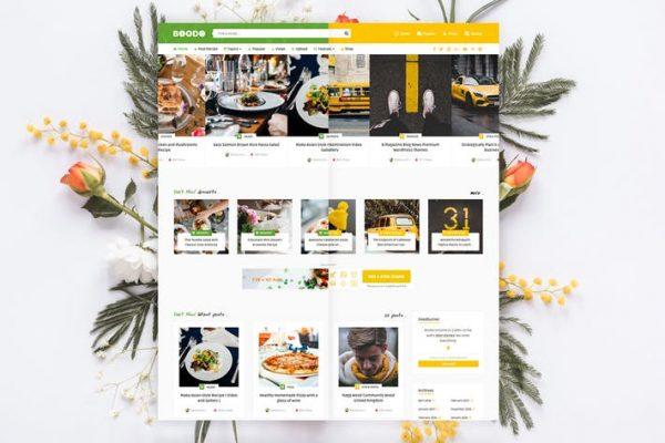 Boodo WP - Yiyecek ve Dergi Mağazası WordPress Temasısı