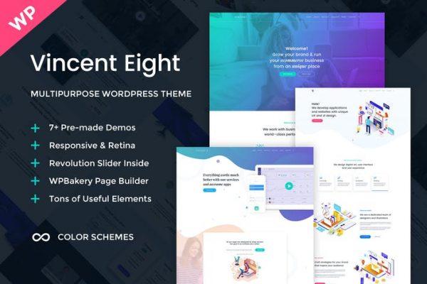 Vincent Eight -  Çok Amaçlı WordPress Temasısı
