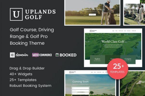 Uplands - Golf Sahası WordPress Temasısı