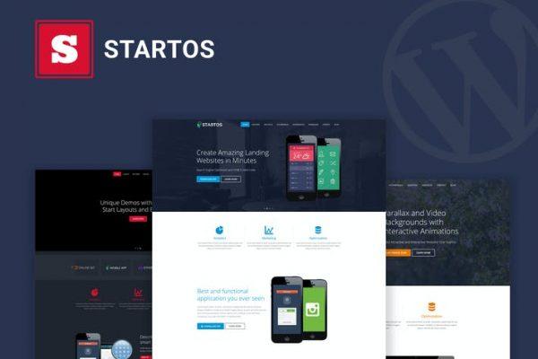 Startos - Modern Uygulama Açılış Sayfası WordPress Temasısı